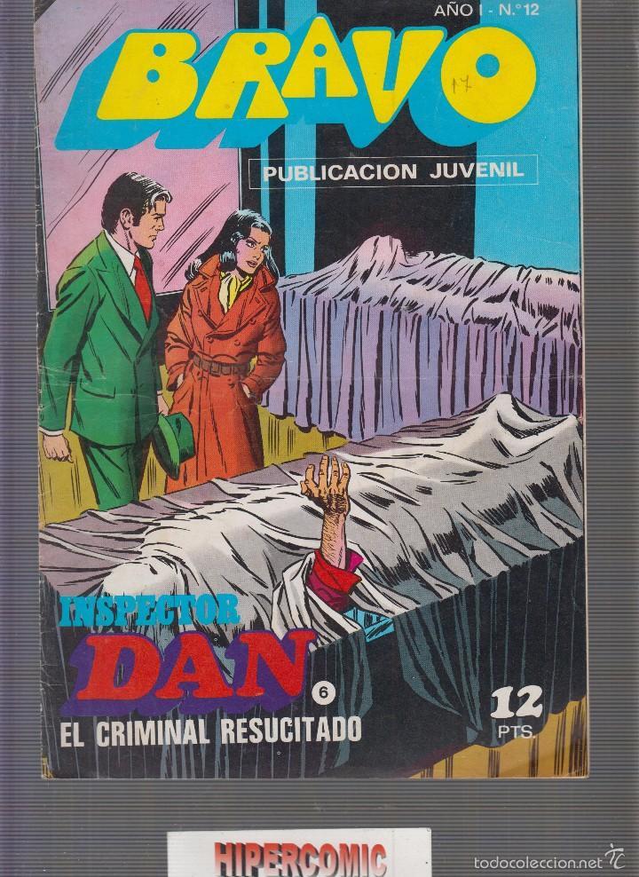 BRAVO INSPECTOR DAN Nº 6 BRUGUERA (Tebeos y Comics - Bruguera - Bravo)