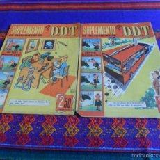 Tebeos: SUPLEMENTO DE HISTORIETAS DE EL DDT CON JABATO NºS 1 Y 2. BRUGUERA 1959.. Lote 60224243