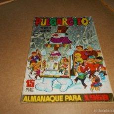 Tebeos: PULGARCITO ALMANAQUE PARA 1968 BRUGUERA 1967 CON SHERIFF KING HERMANAS GILDA CARIOCO. Lote 60887311