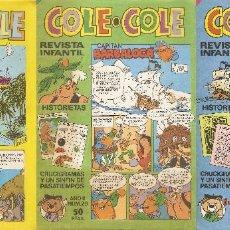 Tebeos: LOTE NÚMERO 28: 3 REVISTA INFANTIL COLE COLE NÚMEROS 19, 29 Y 33 AÑOS 1983 Y 1984 BRUGUERA. Lote 60917375