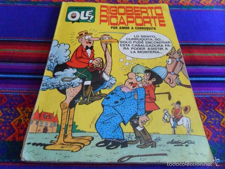 OLÉ Nº 34 RIGOBERTO PICAPORTE. BRUGUERA 1ª ED. CON Nº EN LOMO. 1971. 40 PTS. (Tebeos y Comics - Bruguera - Ole)