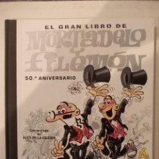 Tebeos: EL GRAN LIBRO DE MORTADELO Y FILEMON TOMO TAPA DURA - GRAN DIMENSION - 50 ANIVERSARIO - INCLUYE DVD. Lote 61602188
