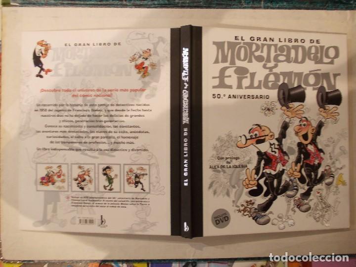 Tebeos: EL GRAN LIBRO DE MORTADELO Y FILEMON TOMO TAPA DURA - GRAN DIMENSION - 50 ANIVERSARIO - INCLUYE DVD - Foto 2 - 61602188