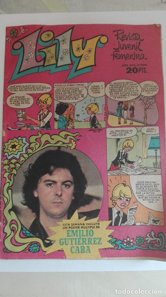 REVISTA LILY PUBLICIDAD NANCY Y GALACTICA,POSTER EMILI GUTIERREZ CABA (Tebeos y Comics - Bruguera - Lily)