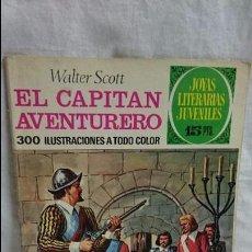 Tebeos: JOYAS LITERARIAS JUVENILES N-74 EL CAPITAN AVENTURERO. Lote 62220764