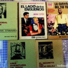 Tebeos: LOTE DE 5 LIBROS ILUSTRADOS - HISTORIAS SELECCION BRUGUERA - CRISTOBAL COLON, LA CABAÑA TIO TOM, EL. Lote 62753608