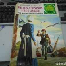 Tebeos: DE LOS APENINOS A LOS ANDES 75 1 EDICION JOYAS LITERARIAS. Lote 62758088