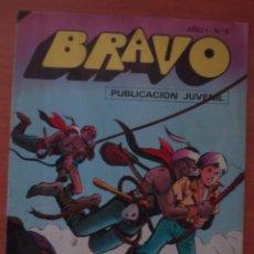 Tebeos: REVISTA BRAVO. Nº 5. CON AVENTURA DE EL CACHORRO. LOS ÁGUILAS NEGRAS. EDITORIAL BRUGUERA. AÑO 1976.. Lote 63113164
