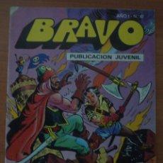 Tebeos: REVISTA BRAVO. Nº 17. CON AVENTURA DE EL CACHORRO. ¡JAQUE MATÉ A LOS PIRATAS!. BRUGUERA. AÑO 1976.. Lote 63113244
