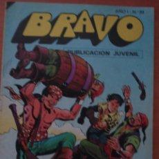 Tebeos: REVISTA BRAVO. Nº 23. CON AVENTURA DE EL CACHORRO. RODEADOS DE PELIGROS. BRUGUERA. AÑO 1976.. Lote 63113312