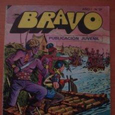 Tebeos: REVISTA BRAVO. Nº 31. CON AVENTURA DE EL CACHORRO. ENCUENTRO INESPERADO. BRUGUERA. AÑO 1976.. Lote 63113348