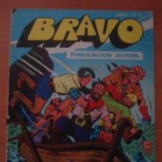 Tebeos: REVISTA BRAVO. Nº 51. CON AVENTURA DE EL CACHORRO. EL TESORO ESCONDIDO. BRUGUERA. AÑO 1976.. Lote 63113416