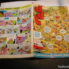 Tebeos: EL DDT ALMANAQUE 1973 - PASATIEMPOS Y CAPITAN TRUENO PUBLICIDAD. Lote 64189199