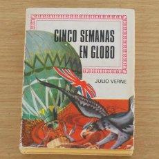 Tebeos: CINCO SEMANAS EN GLOBO - COLECCION HISTORIAS INFANTIL - JULIO VERNE - BRUGUERA - 1968. Lote 64408287