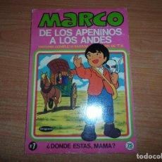 Tebeos: MARCO. DE LOS APENINOS A LOS ANDES Nº 7. ¿ DONDE ESTAS, MAMA ? EDITORIAL BRUGUERA 1977 . Lote 64619867