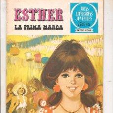 Tebeos: JOYAS LITERARIAS JUVENILES. SERIE AZUL. ESTHER. Nº 23. LA PRIMA MARGA. BRUGUERA 1981. (ST/MANGA7). Lote 64650727