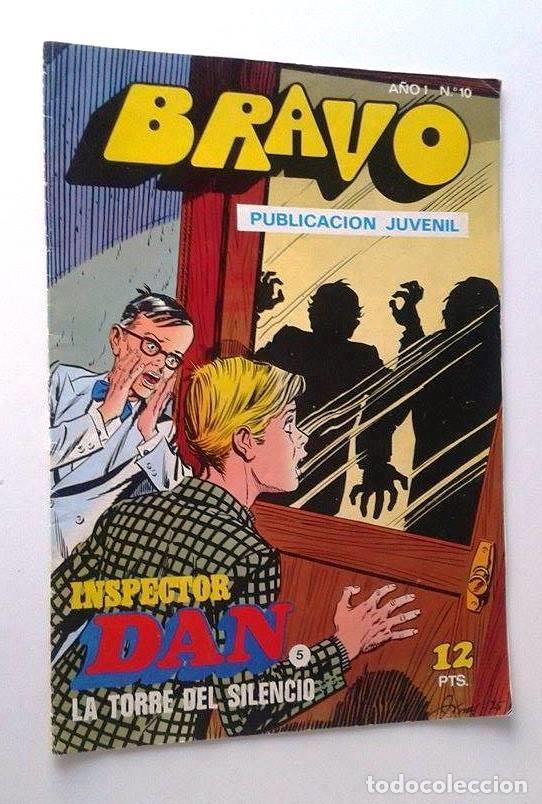 BRAVO AÑO 1 Nº 10 INSPECTOR DAN Nº 5 (Tebeos y Comics - Bruguera - Bravo)