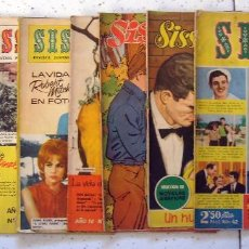 Tebeos: SISSI . LOTE X 7. AÑO 1958 - 1962. Lote 65836538
