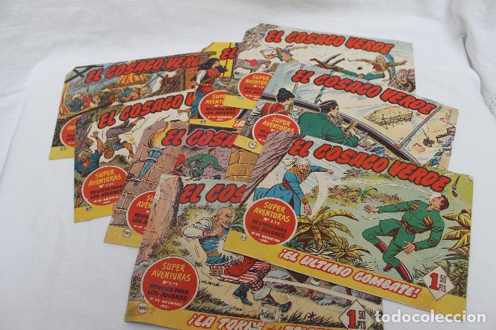 LOTE 8 COMIC, EL COSACO VERDE, BRUGUERA. ORIGINALES, AÑOS 60 (Tebeos y Comics - Bruguera - Cosaco Verde)