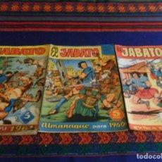 Tebeos: EL JABATO EXTRA VERANO 1958, ALMANAQUE 1960 Y 1961. BRUGUERA 5 PTS. ORIGINAL.. Lote 67235121
