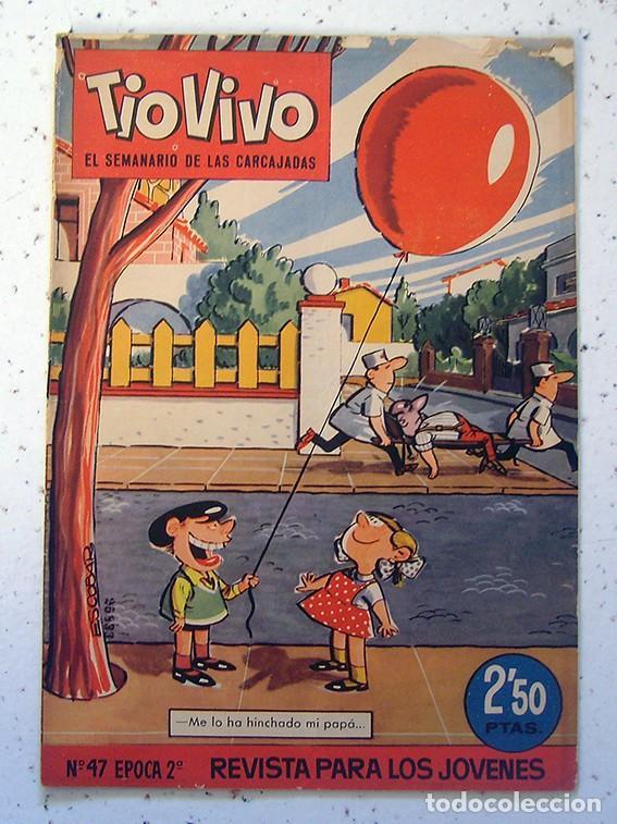 REVISTA INFANTIL . TIO VIVO . 2ª ÉPOCA . NUMERO 47 . AÑO 1962 (Tebeos y Comics - Bruguera - Tio Vivo)