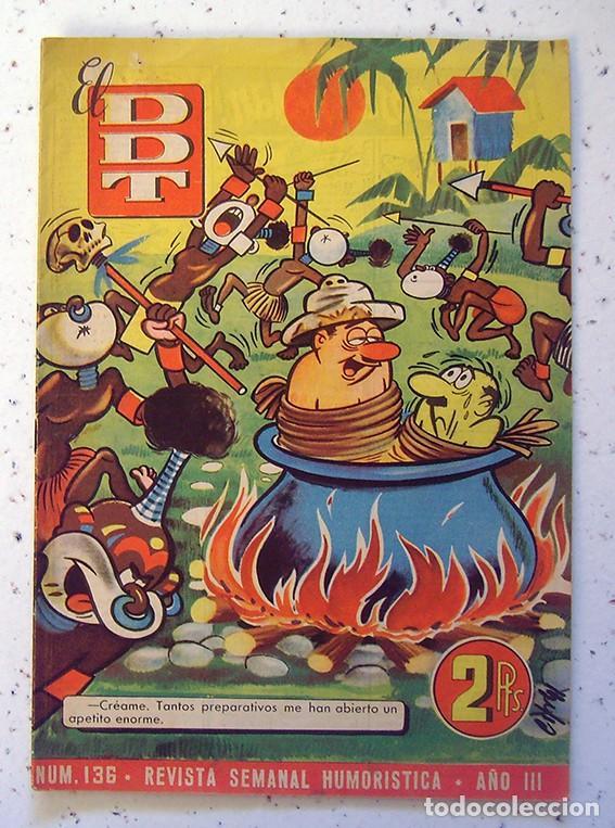 TEBEO-REVISTA EL DDT . PRIMERA ÉPOCA . NUMERO 136 (Tebeos y Comics - Bruguera - DDT)