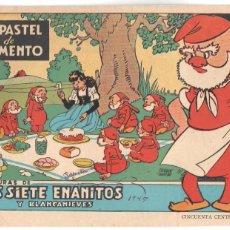 Tebeos: AVENTURAS DE LOS SIETE ENANITOS Y BLANCANIEVES ORIGINAL - EDI. BRUGUERA 1945 - SALVADOR MESTRES. Lote 68786669
