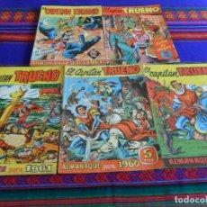 Tebeos: CAPITÁN TRUENO EXTRA VERANO 1958 TRUENO EXTRA ALMANAQUE 1961 ORIGINALES!!!. Lote 97775106
