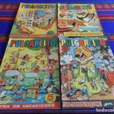 Tebeos: PULGARCITO ALMANAQUE 1959 1961 EXTRA VACACIONES 1959 CON CAPITÁN TRUENO. BRUGUERA. ORIGINALES.. Lote 75573478