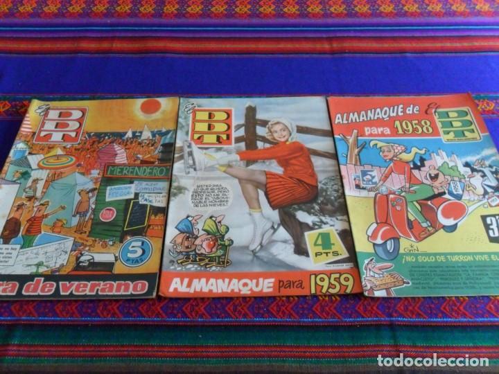 DDT ALMANAQUE 1958 1959 Y EXTRA VERANO 1960. BRUGUERA ORIGINALES. BE. (Tebeos y Comics - Bruguera - DDT)