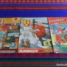 Tebeos: DDT ALMANAQUE 1958 1959 Y EXTRA VERANO 1960. BRUGUERA ORIGINALES. BE.. Lote 68811421