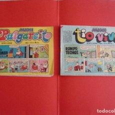 Tebeos: LOTE 2 TEBEOS MINI: TÍO VIVO Y PULGARCITO (BRUGUERA, 1975) ¡1ª EDICIÓN! COLECCIONISTA. Lote 69655857