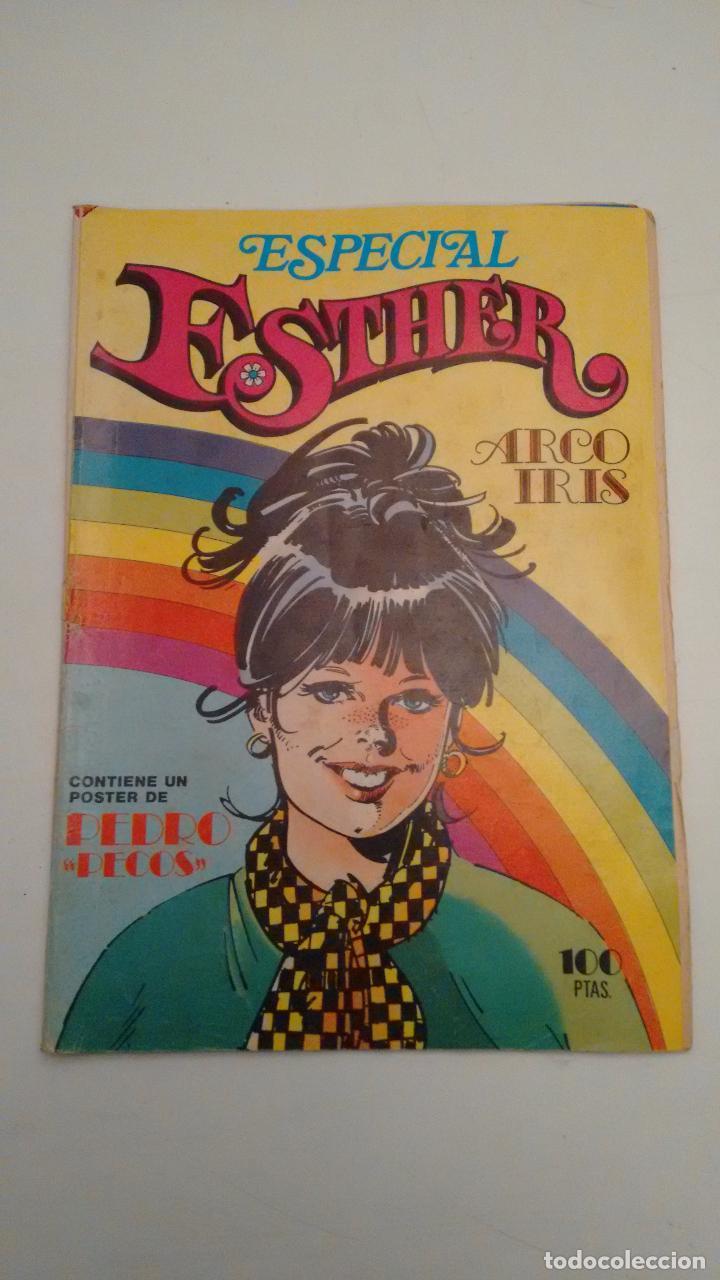 ESTHER REVISTA Nº 22 ESPECIAL ARCO IRIS. CON POSTER DE PEDRO, DE PECOS. BRUGUERA 1982 (Tebeos y Comics - Bruguera - Esther)
