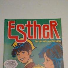 Tebeos: ESTHER REVISTA Nº 60. POSTER RICHARD GERE Y VALERIE KAPRISKY EN SIN ALIENTO. BRUGUERA 1983. Lote 70440473