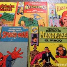 Tebeos: 5 POCKET DE ASES: SPIDER-MAN, FLASH GORDON, EL PRÍNCIPE VALIENTE, LOS DEFENSORES + MANDRAKE EL MAGO. Lote 62193180