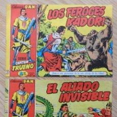 Tebeos: LOTE 2 SERIE CAPITAN TRUENO COLECCION DAN 5 Y 8 LOS FEROCES KADORI EL ALIADO INVISIBLE CON UNA GRAPA. Lote 71461443