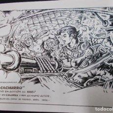Tebeos: CARTEL PRIMER SALON DEL COMIC DE MADRID 1994 CON ILUSTRACION DE EL CACHORRO - G. IRANZO - . Lote 72046019