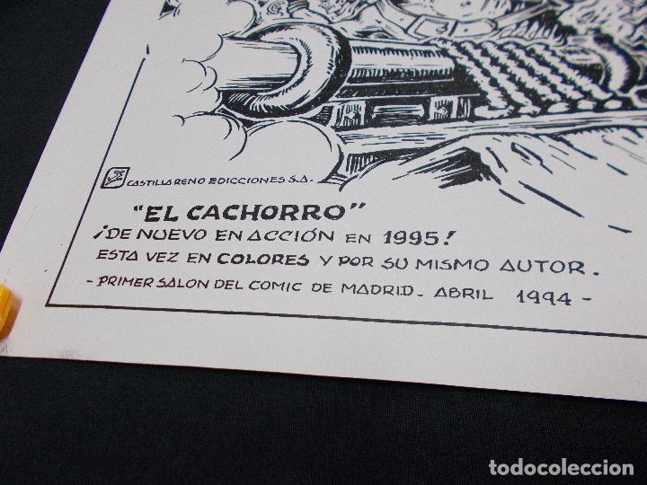 Tebeos: CARTEL PRIMER SALON DEL COMIC DE MADRID 1994 CON ILUSTRACION DE EL CACHORRO - G. IRANZO - - Foto 3 - 72046019