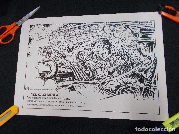 Tebeos: CARTEL PRIMER SALON DEL COMIC DE MADRID 1994 CON ILUSTRACION DE EL CACHORRO - G. IRANZO - - Foto 4 - 72046019