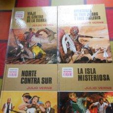 Tebeos: 4 TOMOS COLECCIÓN HISTORIAS COLOR SERIE JULIO VERNE. Lote 73506899