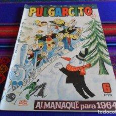 Tebeos: PULGARCITO ALMANAQUE 1964 CON GUILLERMO TELL. BRUGUERA 6 PTS. MUY BUEN ESTADO.. Lote 73649375