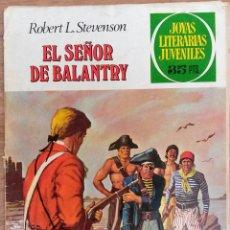 Tebeos: JOYAS LITERARIAS JUVENILES NÚMERO 20 EL SEÑOR DE BALANTRY .SÓLO PORTADA. Lote 73731951