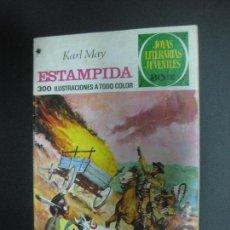 Tebeos - ESTAMPIDA. KARL MAY. JOYAS LITERARIAS JUVENILES Nº 144. BRUGUERA 1978 - 73998531