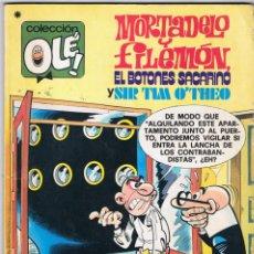 Tebeos: MORTADELO Y FILEMÓN, EL BOTONES SACARINO TIM O'THEO. COLECCIÓN OLÉ Nº 167. BRUGUERA 1ª EDICIÓN 1978. Lote 74633095
