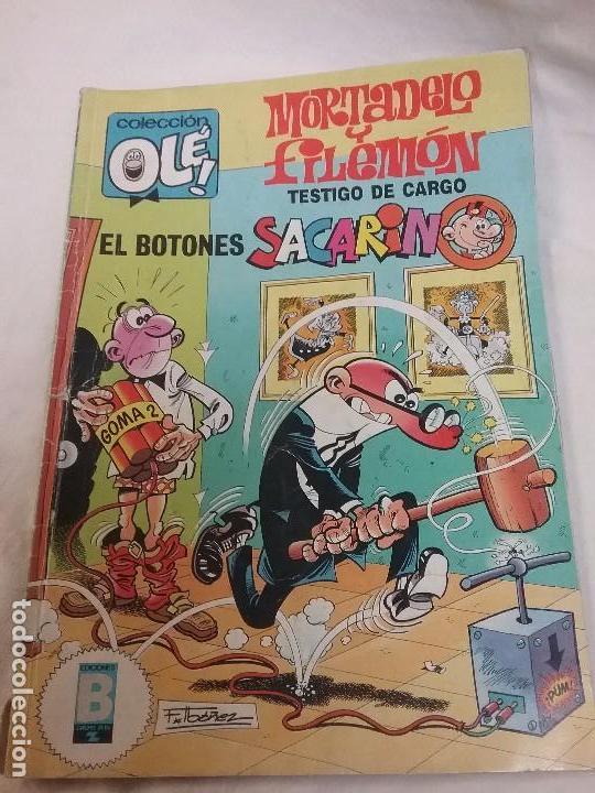 MORTADELO Y FILEMON , BOTONES SACARINO - COLECCIÓN OLE - 1° EDICIÓN AÑO 1989 (Tebeos y Comics - Bruguera - Ole)