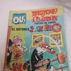 Tebeos: MORTADELO Y FILEMON , BOTONES SACARINO - COLECCIÓN OLE - 1° EDICIÓN AÑO 1989. Lote 75804911