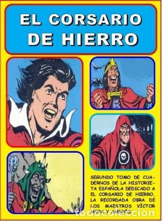 CUADERNOS DE LA HISTORIETA ESPAÑOLA EL CORSARIO DE HIERRO LOTE 3 TOMOS AMBRÓS (Tebeos y Comics - Bruguera - Corsario de Hierro)