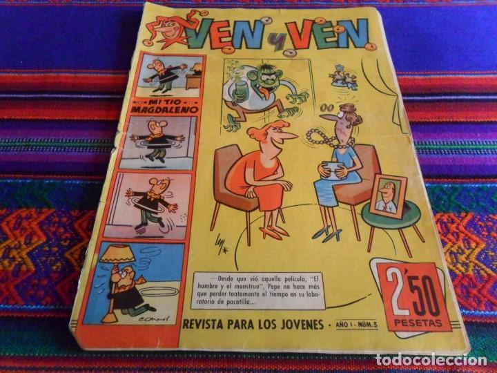VEN Y VEN Nº 3 CON EL JABATO. BRUGUERA 1959. 2,50 PTS. DIFÍCIL. (Tebeos y Comics - Bruguera - Jabato)