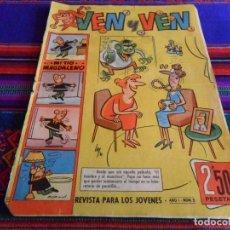 Tebeos: VEN Y VEN Nº 3 CON EL JABATO. BRUGUERA 1959. 2,50 PTS. DIFÍCIL.. Lote 75981615