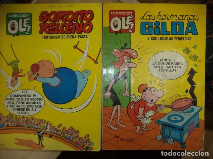 LOTE OLÉ 1ªEDICIÓN 1971.LAS HERMANAS GILDA Y GORDITO RELLENO.NUMERADOS EN LOMO.BRUGUERA. (Tebeos y Comics - Bruguera - Ole)